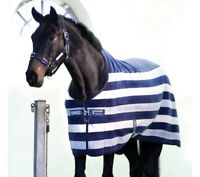 """Rambo Newmarket Fleece Cooler 78"""" Blue EXCELLENT CONDITION Whitney Stripe Navy"""