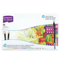 Derwent Academy Colouring Pencils, Set of 36, Tin Box, High Quality, 2300225 ...