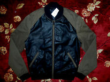 $148 GUESS Men Black Military Runner Zip Up Jacket Size Medium M Authentic Coat