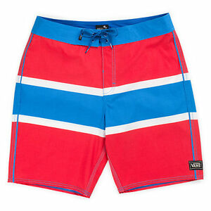 VANS (GHOST TREE) BOARD SHORTS SWIM TRUNKS RED BLUE SIZES 28 30 38 NWT NEW FAST⚡
