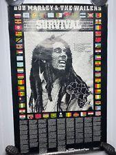 Vintage Bob Marley Survival poster UK promo POSTER TUFF GONG 1979