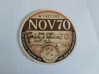 OLD USED COLLECTABLE  TAX DISCS   NOVEMBER 1970.