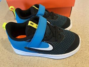 NEW NIKE DOWNSHIFTER 9 (TDV) SNEAKERS Toddler Boy Size 8 C *Black/White/Blue