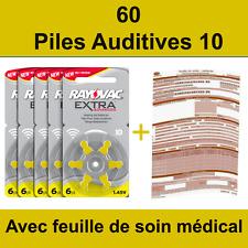 60 piles auditives Rayovac 10 / pile auditive 1.45V / pile - appareil auditif