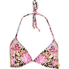 33f944664205f New JUST CAVALLI Multicoloured Floral Print Bikini Bra UK-32 RRP £54