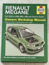 Haynes Manual 4284 - Renault Megane, 2002 to 2005, petrol & diesel