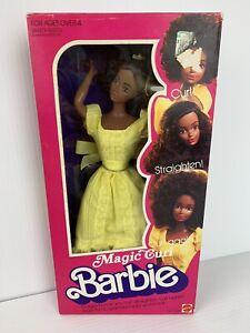 Original 1981 Magic Curl Barbie AA Black Steffie Face NRFB Boxed