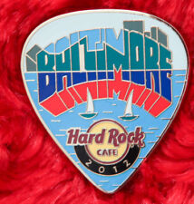 Hard Rock Cafe Pin BALTIMORE Postcard GUITAR PICK Series SAIL BOAT bay logo LE