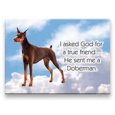DOBERMAN PINSCHER True Friend From God MAGNET No 2 RED