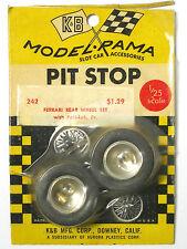 1965 K&B Aurora 1:24 1:25 Slot Car Pit Stop Parts FERRARI POSI-LOK WHEEL SET 242