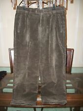 used ERMENEGILDO ZEGNA brown corduroy pants EU 52 size 34 x 28 Italy $495