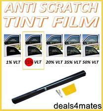 SCRATCH RESISTANT PROFESSIONAL WINDOW TINT FILM DARK SMOKE BLACK  15% 76cm x 3M