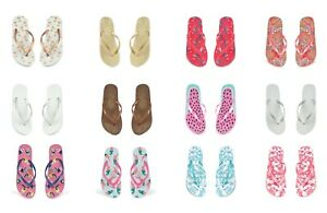 Ladies Flamingo Pineapple Toucan BRIDE Flip Flops Beach Sandals Size 3 4 5 6 7 8