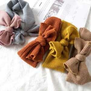 Headband Hair Band Knitting Newborn Girls Elastic Bowknot Bow-knot Baby Rabbit