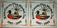 Vintage Tile Trivet Coaster Set of Two Duck Kane County Flea Market St Charles