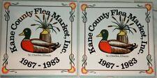 Vintage Tile Trivet Coaster Set of Two Duck Kane County Flea Market St Charles