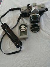 Minolta SR-1s 35mm Film Camera w/ MC Rokkor-PF 55mm f/1.7 Untested!SOLD AS IS!