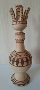 Vintage Ceramic SERBIA 1Light Candelabra Candlestick Candle Holder