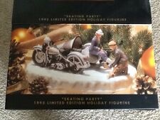 "Harley Davidson 1995 Holiday ""Skating Party"" Figurine New In Box"