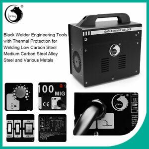 Gasless MIG-100 Welder NO GAS Flux Core Portable Metal Welding Machine Tools Kit