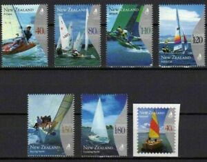 MINT 1999 NEW ZEALAND NZ YACHTING STAMP SET OF 6 + BOOKLET STAMP