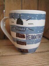 "Kaffeebecher ""HEIMATHAFEN"" Tasse maritim Meer Hafen Leuchtturm Tee Becher See"