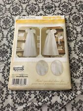 Smocked Christening Dress, hat, Baptism, bonnets, Simplicity 3710, Sizes XS-L,