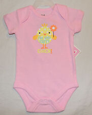 NEW Baby Girl One Cute Chick, Sizes 0 thru 18 M One Piece Bodysuit First Easter