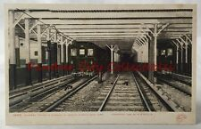 Vintage Postcard 1905 Express Trains In Subway Spring Street New York City
