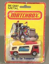 Matchbox Superfast 1976 #11 Car Transporter w/ORIGINAL PACKAGING!! 3 cars Atop!!