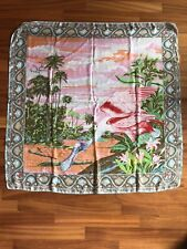 Kenzo 100% Silk Red Duck Scarf Used Made In Italy