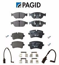 For Audi A6 A7 Quattro Rear & Front Brake Pad Set+Front Rear Wear Sensor KIT