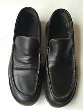 Banana Republic Mens Brown Leather Slip-On Loafer Shoes (Sz 10 D)