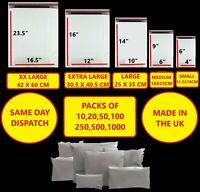 WHITE Postal Packaging Bags Plastic Parcel Mailing Packing Envelopes Polythene