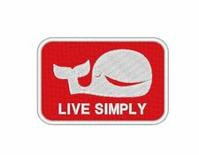 """E0035 TV/MOVIE PATCH THE EXPENDABLES - """"LIVE SIMPLY """" PATCH EMBROIDERED"""