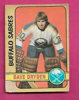 1972-73 OPC # 241 SABRES DAVE DRYDEN  HIGH # CREASED CARD (INV# C1892)