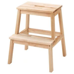 IKEA BEKVÄM Hocker Stufe Schemel Tritthocker Stufenhocker 50cm Massivholz NEU