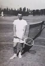 c1950 B/W Photograph. Male Tennis Player. Peter Carpenter, 67 Cedar Rd Dartford