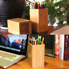 HD_ Space-saving Pen Pencil Holder Stationery Desktop Organizer Storage Box Char