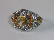 Handmade Citrine Solitaire Fine Gemstone Rings