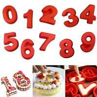 1pcs 10'' Large Silicone Number Molds 0-9 Arabic Number Baking Cake Mold Z9O8