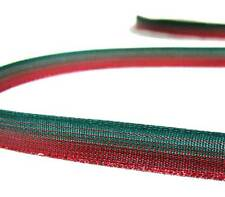 """5 Yds Christmas Red Green Metallic Ombre Ribbon 3/8""""W"""