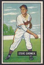 1951 Bowman #115 Stephen Steve Gromek Cleveland Indians baseball card