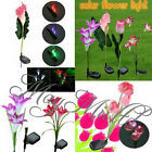 Lily/Calla/Tulip Solar LED Color Changing Flower Garden Path Light Lawn Lamp G