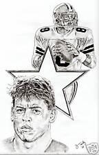 Troy Aikman Dallas Cowboys sketch poster picture ART