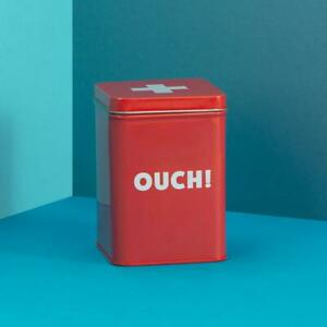 OUCH First aid tin 13 x 9cm Really Good Rectangle red storage container New