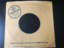 CHESS BROWN RECORD COMPANY SLEEVE (division of Sugar Hill Records) VG+