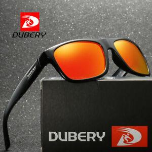DUBERY Mens Polarized Sport Sunglasses Riding Orange Lenses UV400 Glasses