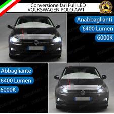 CONVERSIONE FARI FULL LED ANABBAGLIANTI + ABBAGLIANTI VW POLO AW1 CANBUS 6000K