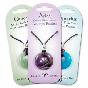 New birth gemstone zodiac pendant. 12 to pick from. great gift, present idea.